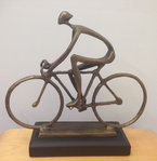 Bronze Sculpture Road Biker