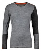 ORTOVOX Merino Wool Long Sleeve Thermal W Grey